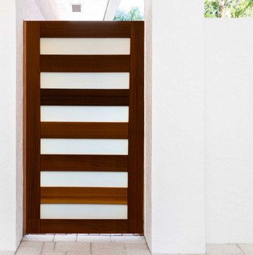 """Easy-Install Wood Gate,  Contemporary  42"""" wide x 70"""" tall"""