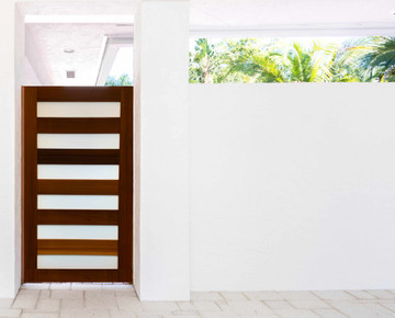 "Easy-Install Wood Gate,  Contemporary  42"" wide x 70"" tall"