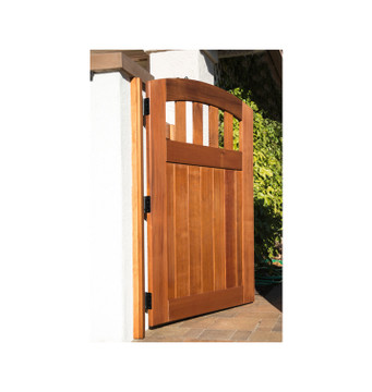 Easy-Install Wood Gate, Rose City Design, Pre-Hung