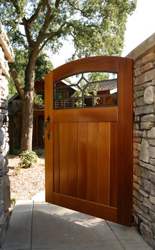 "Easy-Install Wooden Gate, Craftsman 42"" wide x 70"" tall"