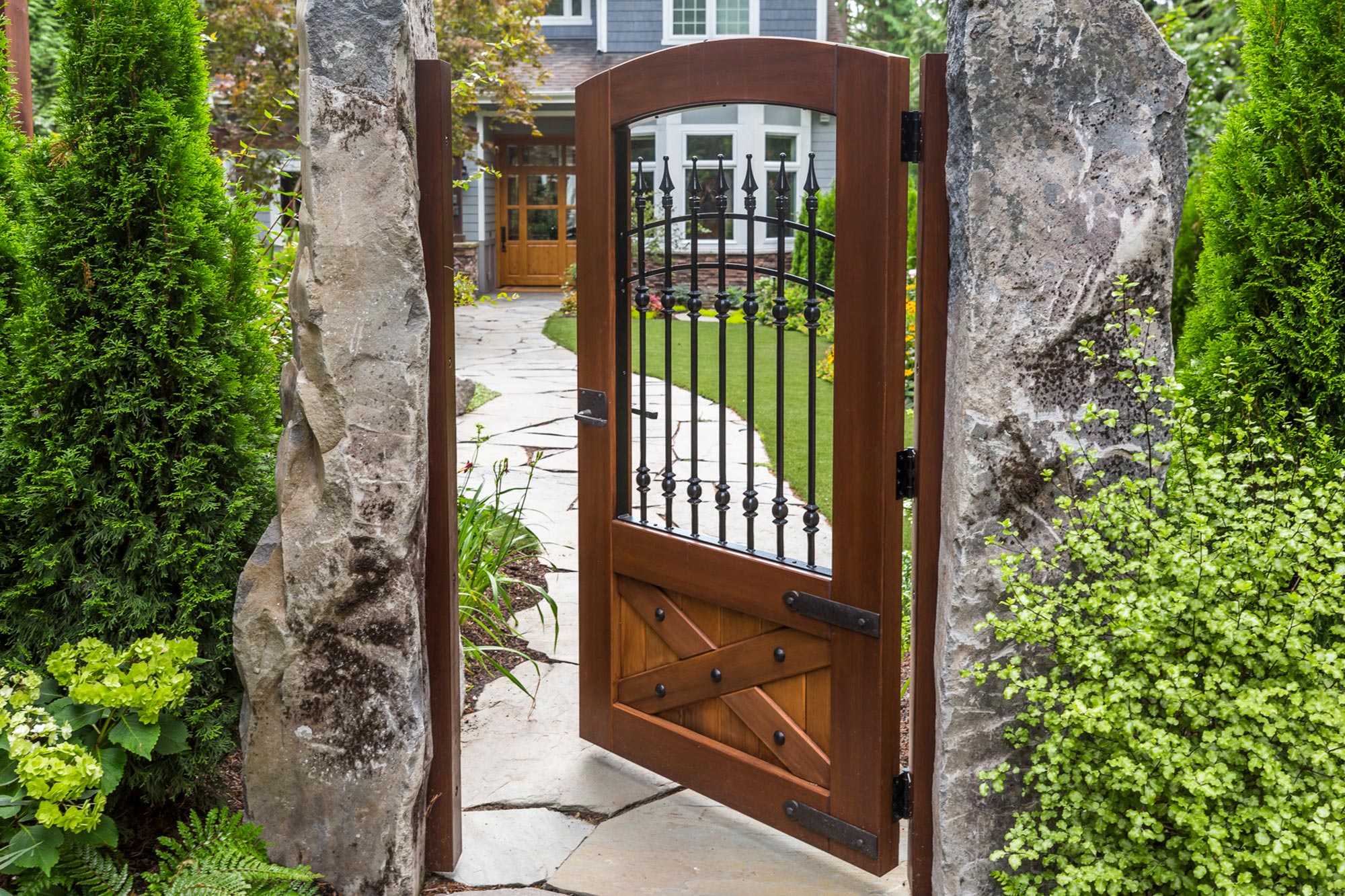 Handcrafted Wood Gates Custom Sizes Beautiful And Durable Side Gates And Driveway Gates,Personal Identity Graphic Designer Personal Logo