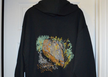 Nevada Rocks Zippered Hoodie Sweatshirt