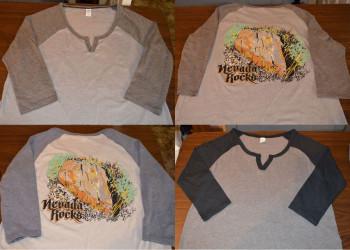 Nevada Rocks Women's T-Shirt - Mid Sleeve, Light Weight
