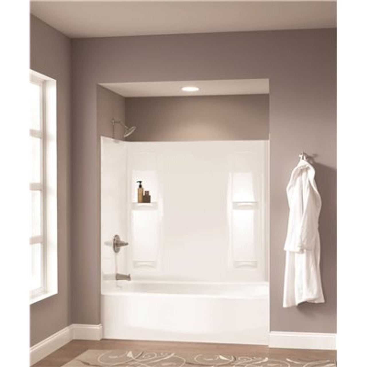 Pro-Series 60 in. W x 57 in. H Five Piece Glue Up Tub Surrounds in High Gloss White Item # 3586195 Delta Part # 40154 UPC Code 720416004019 UNSPSC Code 30181507