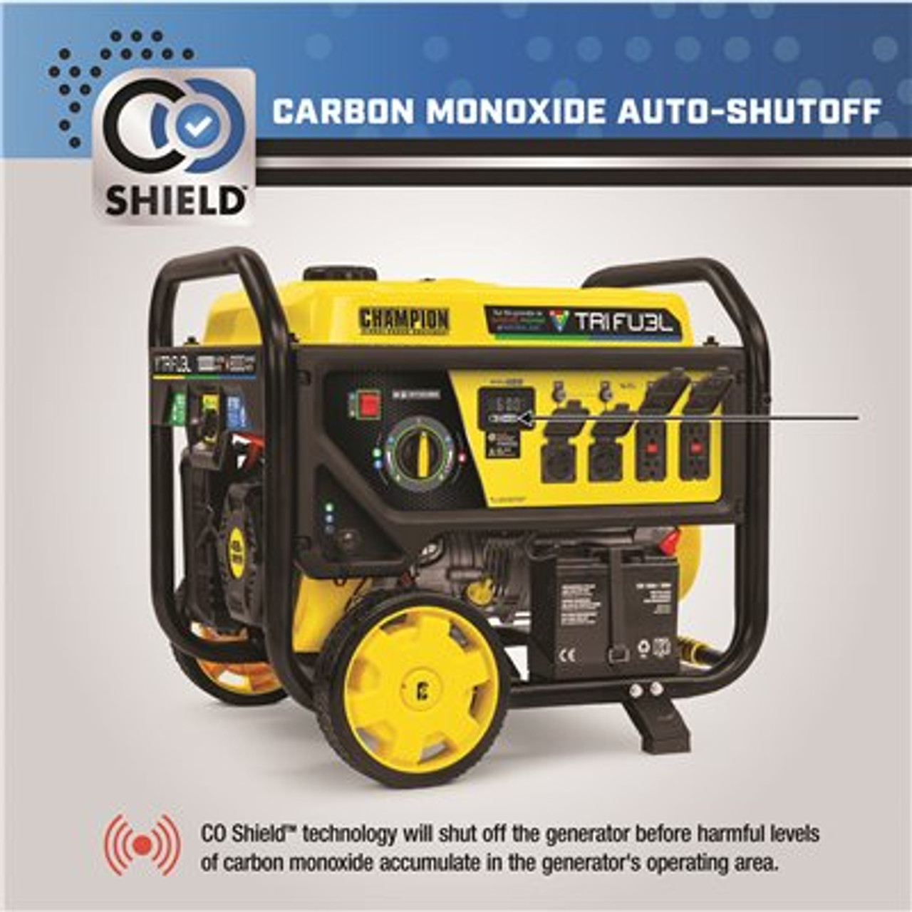 10,000/8,000-Watt Electric Start Gasoline Propane and Natural Gas Tri-Fuel Portable Generator with NG and LPG Hoses Item # 316786218 Champion Power Equipment Part # 100416 UPC Code 817198020617