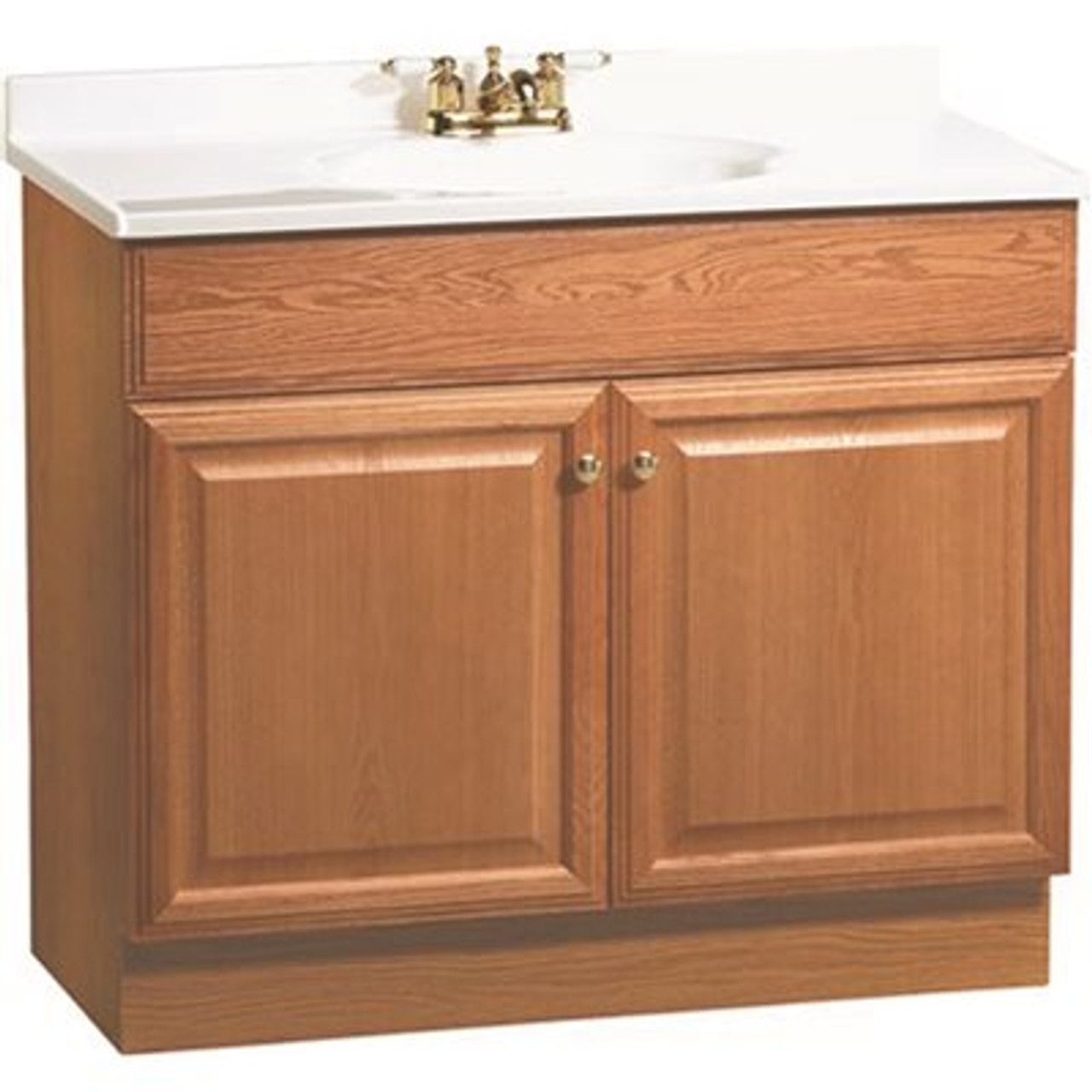 RSI HOME PRODUCTS 36 in. x 31 in. x 18 in. Richmond Bathroom Vanity Cabinet with Top with 2-Door in Oak Item # 270123 RSI HOME PRODUCTS Part # C14036A UPC Code 094803067254 UNSPSC Code 30161801