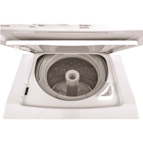 GE White Laundry Center with 2.3 cu. ft. Washer and 4.4 cu. ft. 240-Volt Vented Electric Dryer Item # 3583777|GE Part # GUD24ESSMWW|UPC Code 084691826415|UNSPSC Code 52141600