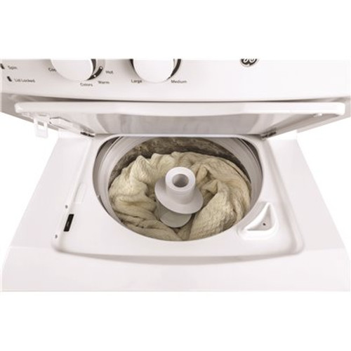 GE White Laundry Center 3.8 cu. ft. Washer and 5.9 cu. ft. 240-Volt Vented Electric Dryer Item # 3583779|GE Part # GUD27ESSMWW|UPC Code 084691826071|UNSPSC Code 52141600