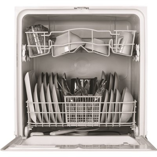 GE Front Control Dishwasher in White, 64 dBA Item # 632119|GE Part # GSD2100VWW|UPC Code 084691228738|UNSPSC Code 52141505