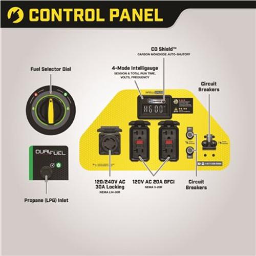 Champion Power Equipment 6250-Watt Gas and Propane Powered Dual-Fuel Portable Generator with CO Shield Technology Item # 308173035|Champion Power Equipment Part # 100592|UPC Code 817198021928
