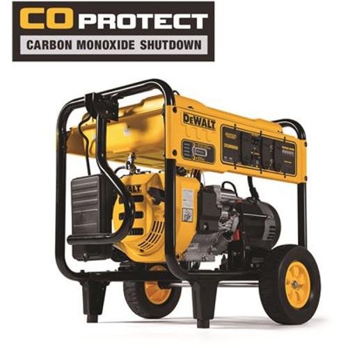 DEWALT 8,000-Watt Gasoline Powered Electric Start Portable Generator with Idle Control, GFCI Outlets and CO Protect Item # 307457717 DEWALT Part # DXGNR8000 UPC Code 696471074536 UNSPSC Code 26111600