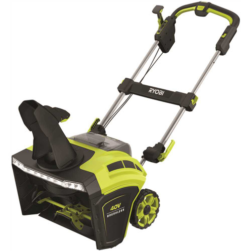 RYOBI 40V Brushless 21 in. Cordless Electric Snow Blower with (2) 5.0 Ah Batteries and Charger Item # 310155453|RYOBI Part # RY40860|UPC Code 046396028204|UNSPSC Code 22101531