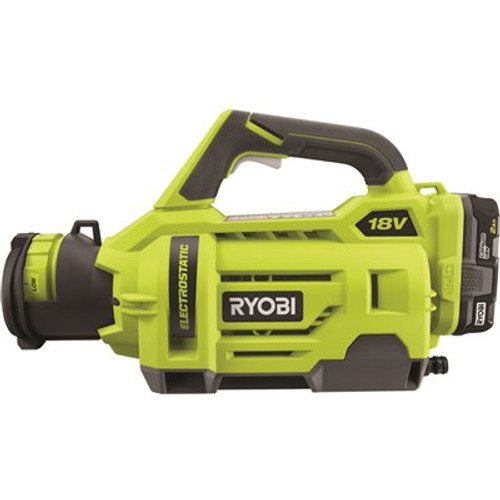 RYOBI ONE+ 18V Cordless Electrostatic 1 Gal. Sprayer Kit with (2) 2.0 Ah Batteries and (1) Charger Item # 314154445|RYOBI Part # P2870|UPC Code 046396035974|UNSPSC Code 47121800