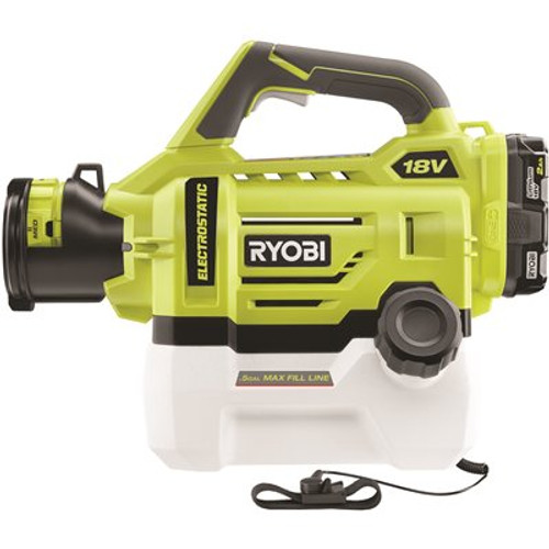 RYOBI ONE+ 18V Cordless Electrostatic 0.5 Gal Sprayer with 2.0 Ah Battery and Charger Item # 314154372|RYOBI Part # P2890|UPC Code 046396036384|UNSPSC Code 47121800