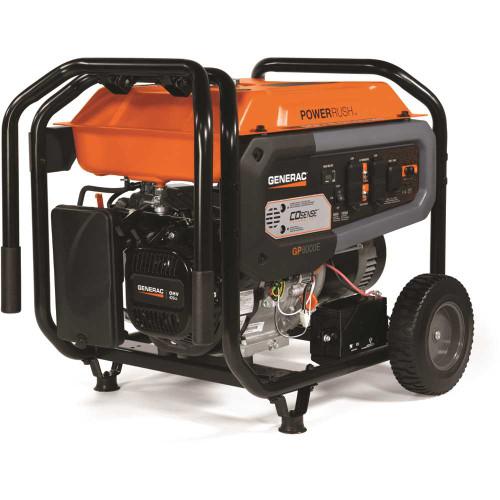 Generac 8,000-Watt Electric Start Gasoline Portable Generator with COsense CARB - Item # 317913856 - Generac Part # 7676 - UPC Code 696471085785