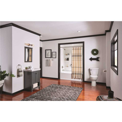 Delta Classic 400 60. in W x 60 in. H Three Piece Direct-to-Stud Tub Surround in High Gloss White Item # 2490806|Delta Part # 40044|UPC Code 720416003739