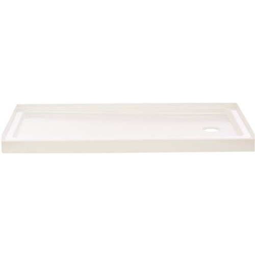 Delta Classic 400 60 in. L x 32 in. W Alcove Shower Pan Base with Right Drain in High Gloss White Item # 2490809|Delta Part # 40094R|UPC Code 720416003784