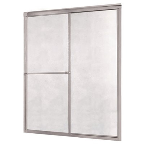 Foremost Tides 44 in. to 48 in. x 70 in. H Framed Sliding Shower Door in Silver and Obscure Glass without Handle - Item # 3559218 - Foremost Part # TDSS4870-OB-SV - UPC Code 721015600213