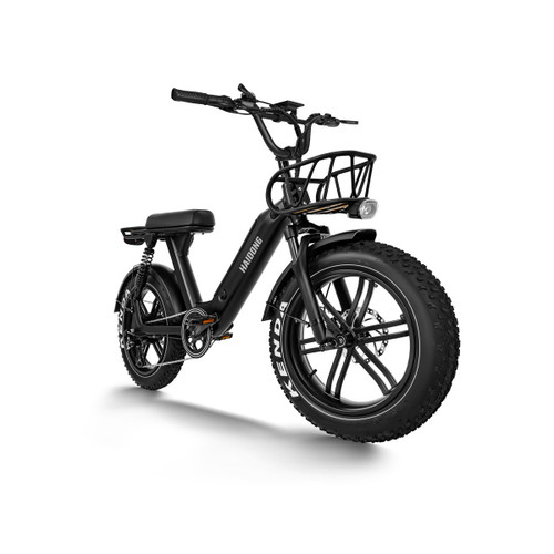 Double suspension and hydraulic locking system, perfect shock absorption function, can be easily controlled in all-terrains. Moped-Style off-road electric bike, hidden 48V 14AH Samsung Lithium-ion battery to ensure a long life span and excellent performance. The tires are made of aluminum alloy wheels instead of common spoke wheels, which greatly improves the durability and resistance to corrosion of the spokes. With a stable and reliable appearance, wider, bigger, and shorter seats, providing more choices for people who are not very tall.