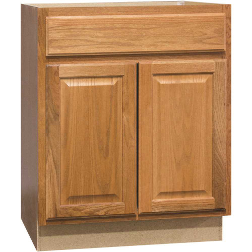 Hampton Bay Hampton Assembled 30 x 34.5 x 21 in. Bathroom Vanity Base Cabinet in Medium Oak Item # 3584563|Hampton Bay Part # KVSB30-MO|UPC Code 094803141176