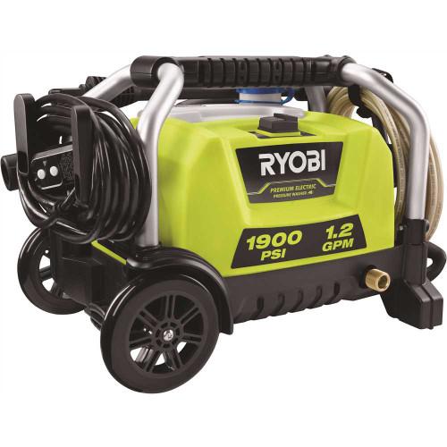 RYOBI 1900 PSI 1.2 GPM Cold Water Wheeled Electric Pressure Washer - Item # 311223300, RYOBI Part # RY1419MTVNM, UPC Code 046396033383