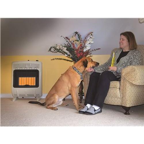 Heatstar 20000 BTU Vent-Free Radiant Natural Gas Heater with Thermostat and Blower - Item # 3578083, Heatstar Part # HSSVFRD20NGBT, UPC Code 856795000745