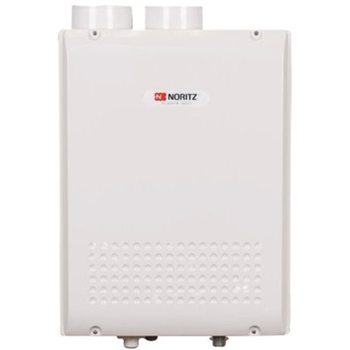 NORITZ Indoor Condensing (Direct Vent) 9.8 GPM 180,000 BTU Natural Gas, Gas Residential Tankless Water Heater - Item # 126288, NORITZ Part # NRC98-DV-NG, UPC Code 817000011789