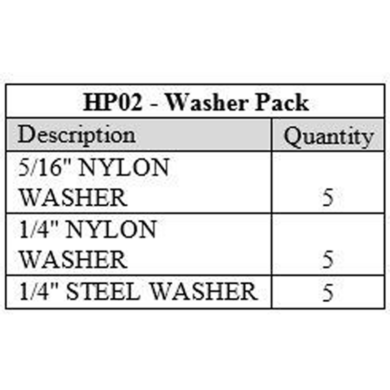 Washer Pack