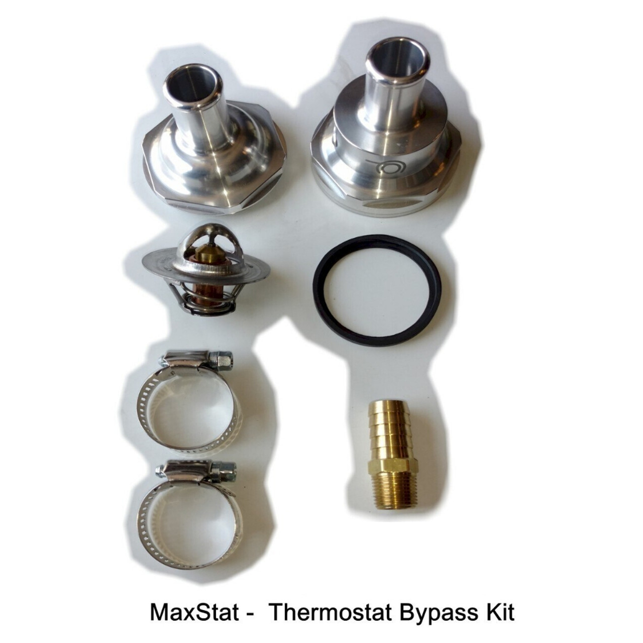When ordered as a standalone kit, the MaxStat includes additional hardware to complete the installation.     The MaxStat can be installed with virtually all heater kits on the market and can be done at any time.  The best part is you don't have remove the OEM thermostat which can take hours depending on the engine.