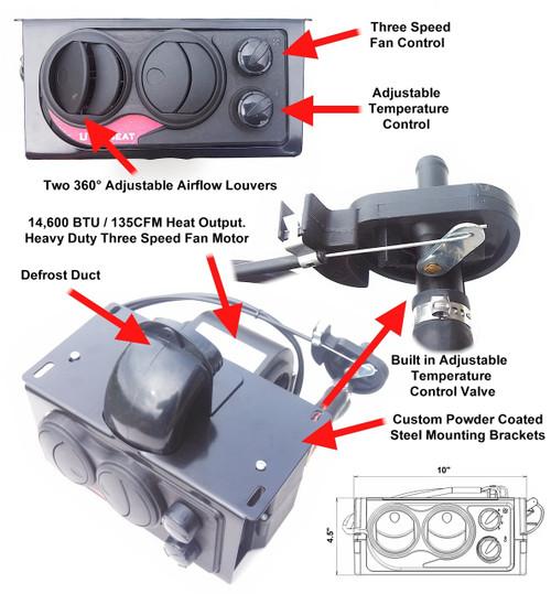 Hisun 500/700 Heater Kit - Ice Crusher Cab Heater