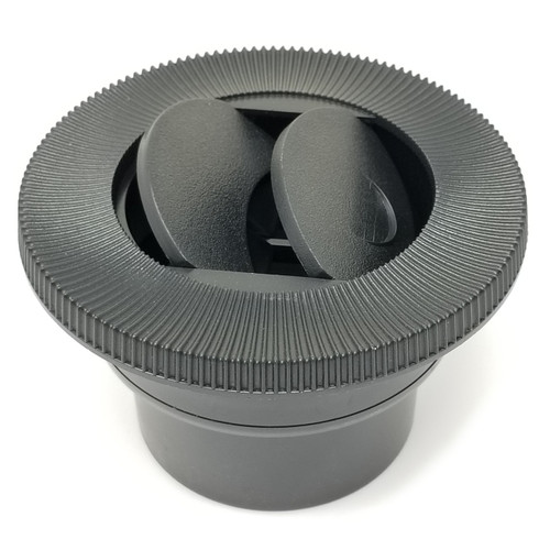 Ice Crusher Replacement 3'' plastic vent (old style) with grooved edge detailing.  Dual vents for directing air flow.  Made in the USA.