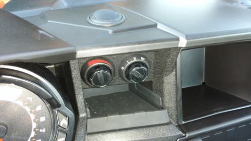 Ice Crusher premium aftermarket cab heater for Polaris General.  Speed and flow control positioned at the center of the dash for easy access.