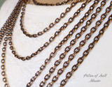 solid copper chain for pendants - Pillar of Salt Studio