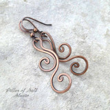 copper wire wrapped earrings