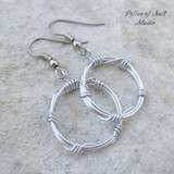 aluminum wire wrapped earrings with stainless steel ear wires