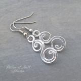 Shiny aluminum earrings by Pillar of Salt Studio