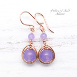 rose gold-filled violet quartz earrings