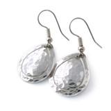 hammered aluminum teardrop earrings