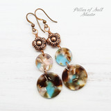 Circle Drop Mermaid Earrings C