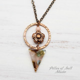 Mermaid Triangle Necklace - Coral