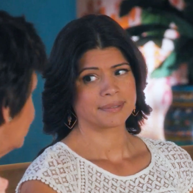 Copper Fringe earrings worn on Jane the Virgin Xiomara season 5