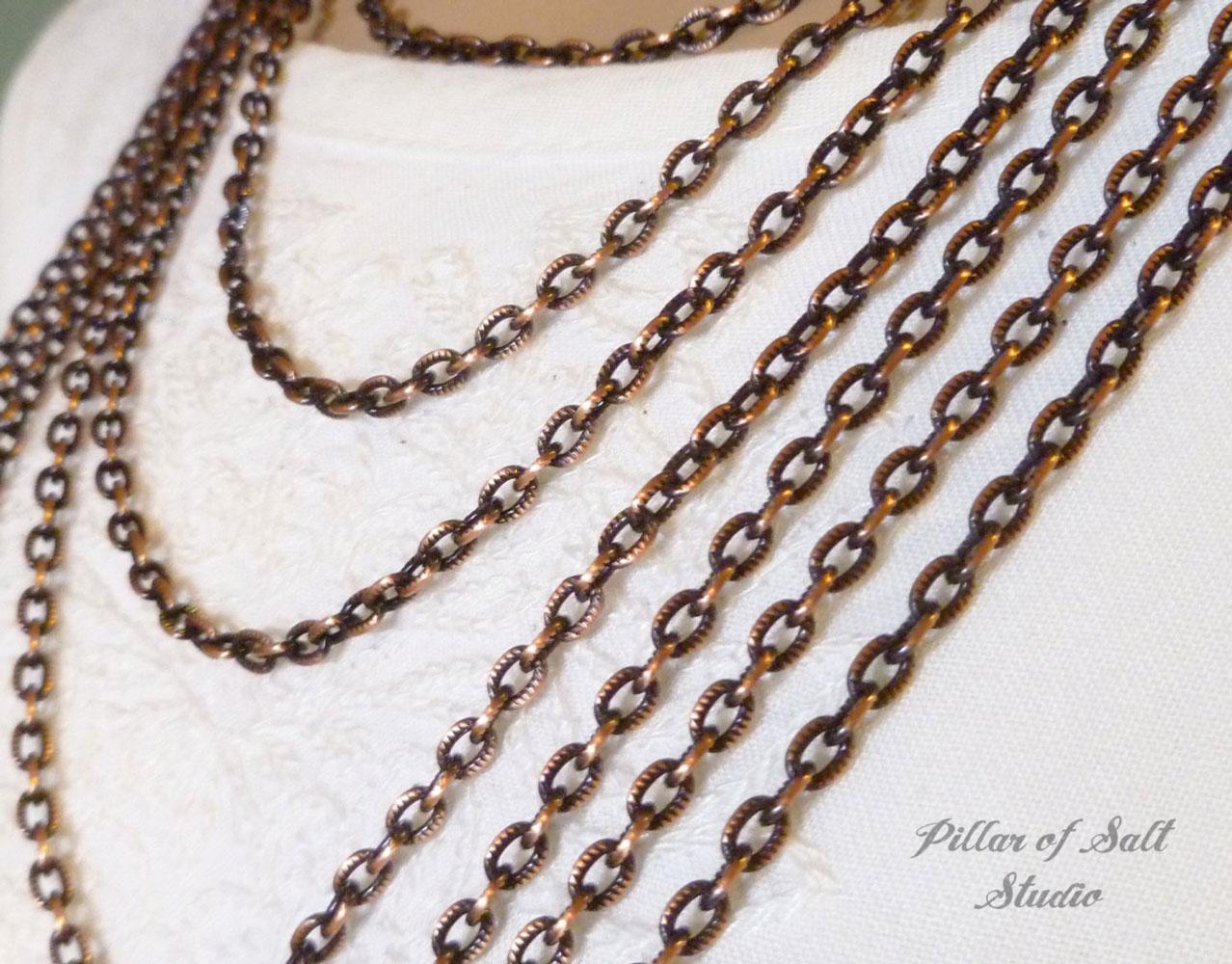 solid copper chain for pendants - Pillar of Salt Studio