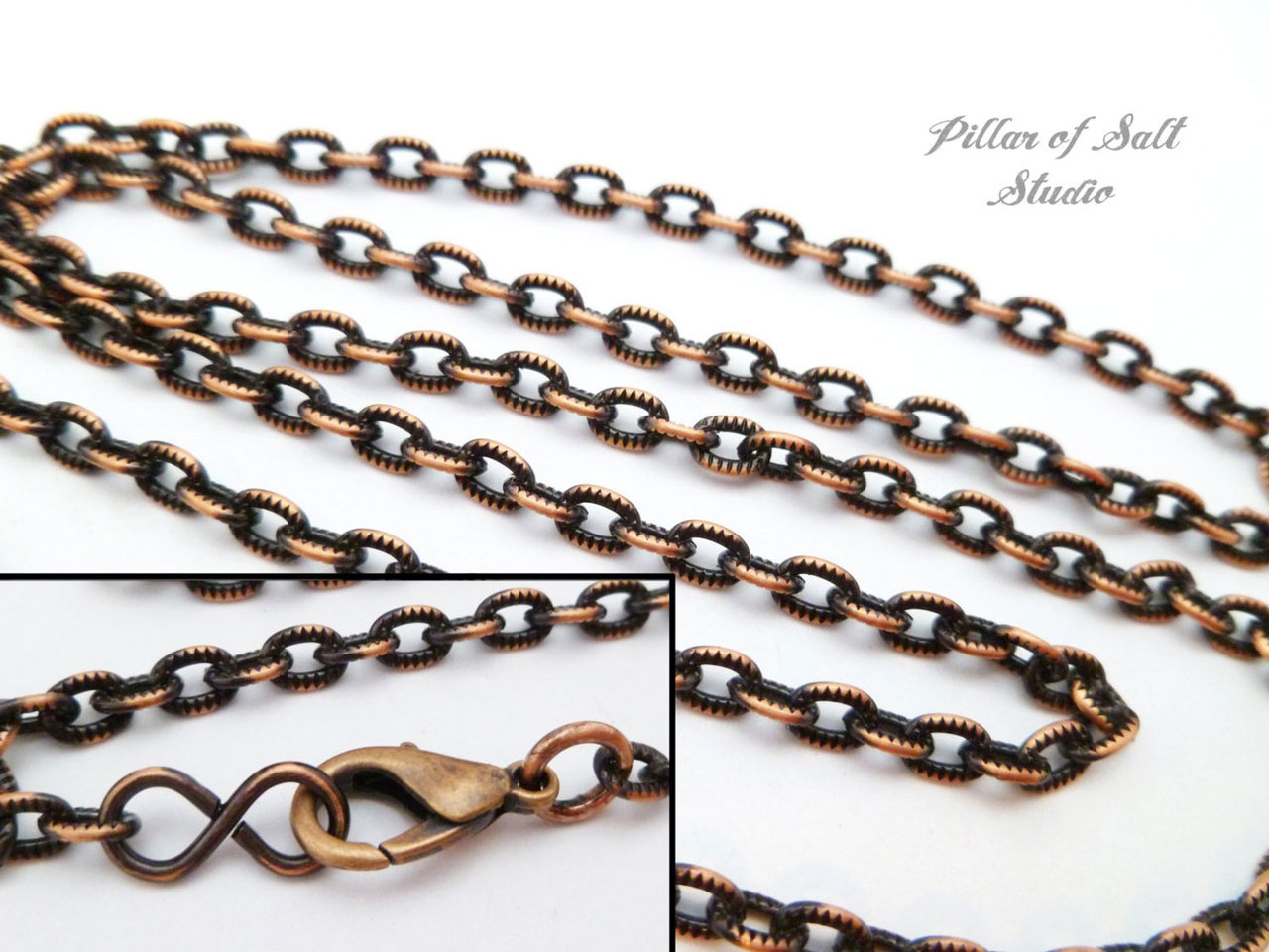 Solid Copper Chain necklace - Great option for Pendants