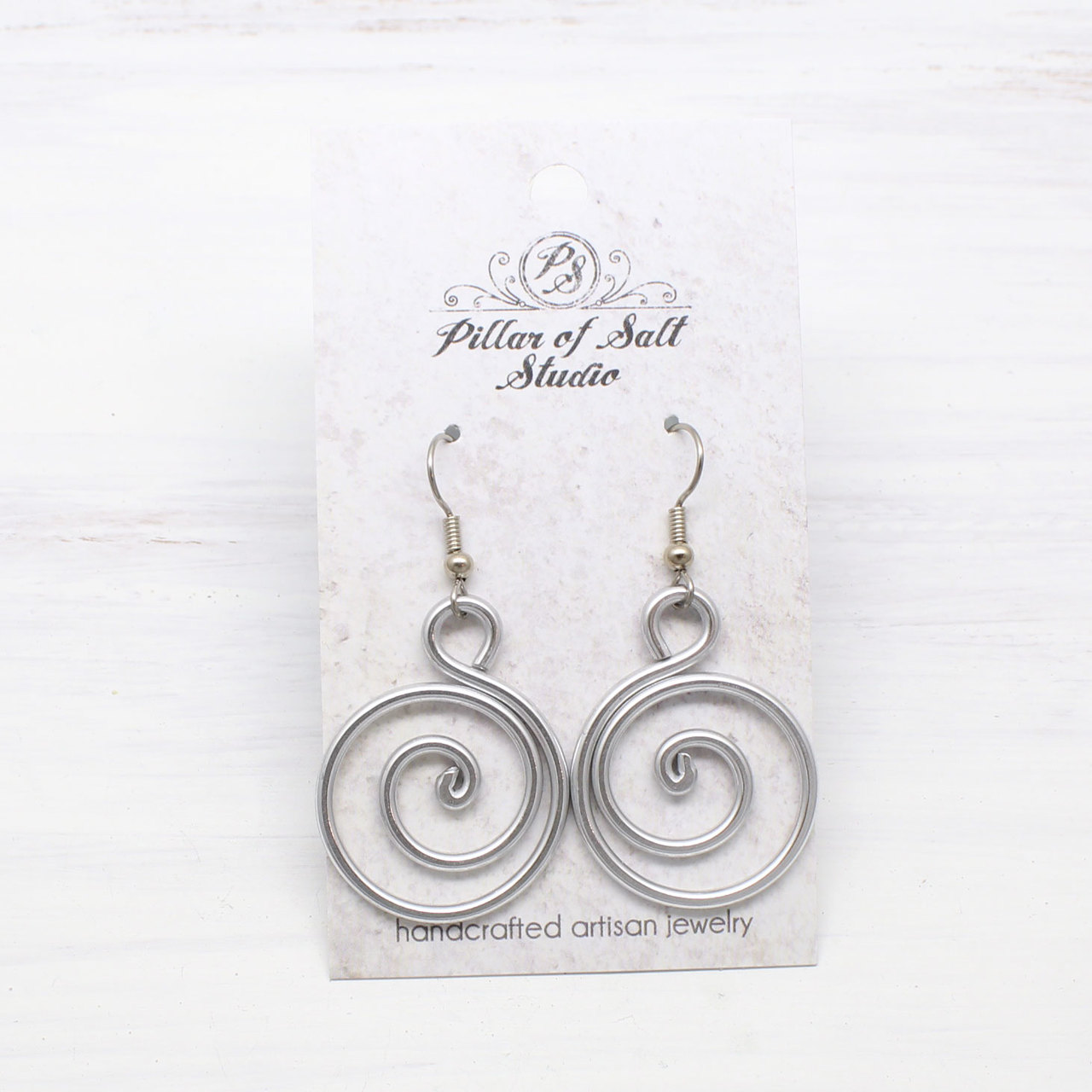 Spiral Aluminum earrings