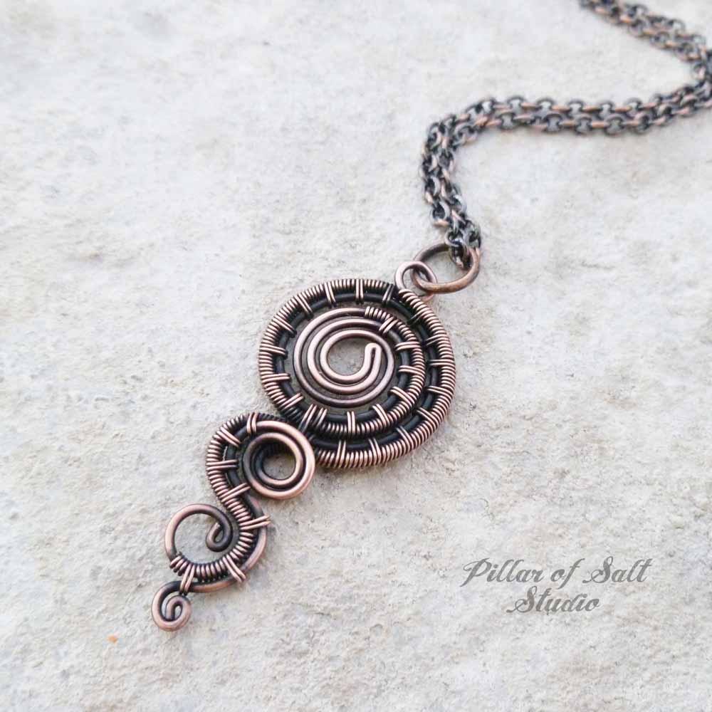 wire wrapped jewelry handmade by Pillar of Salt Studio