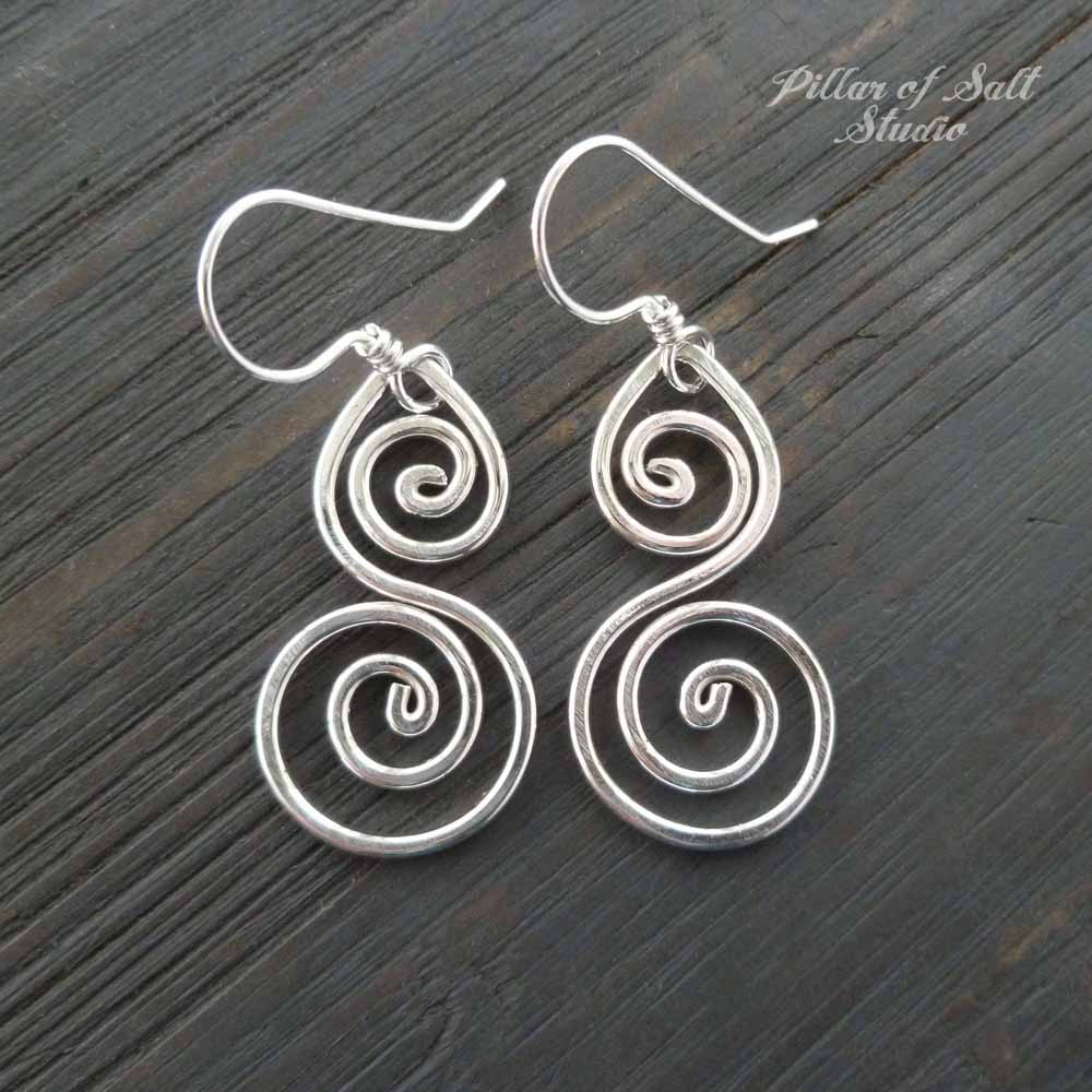 Sterling Silver Double Spiral Earrings