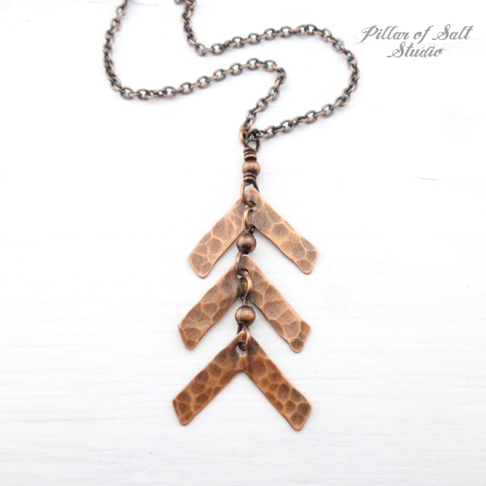 d2f4ac9bc3448 Down Syndrome three arrow necklace - Pillar of Salt Studio, Inc.