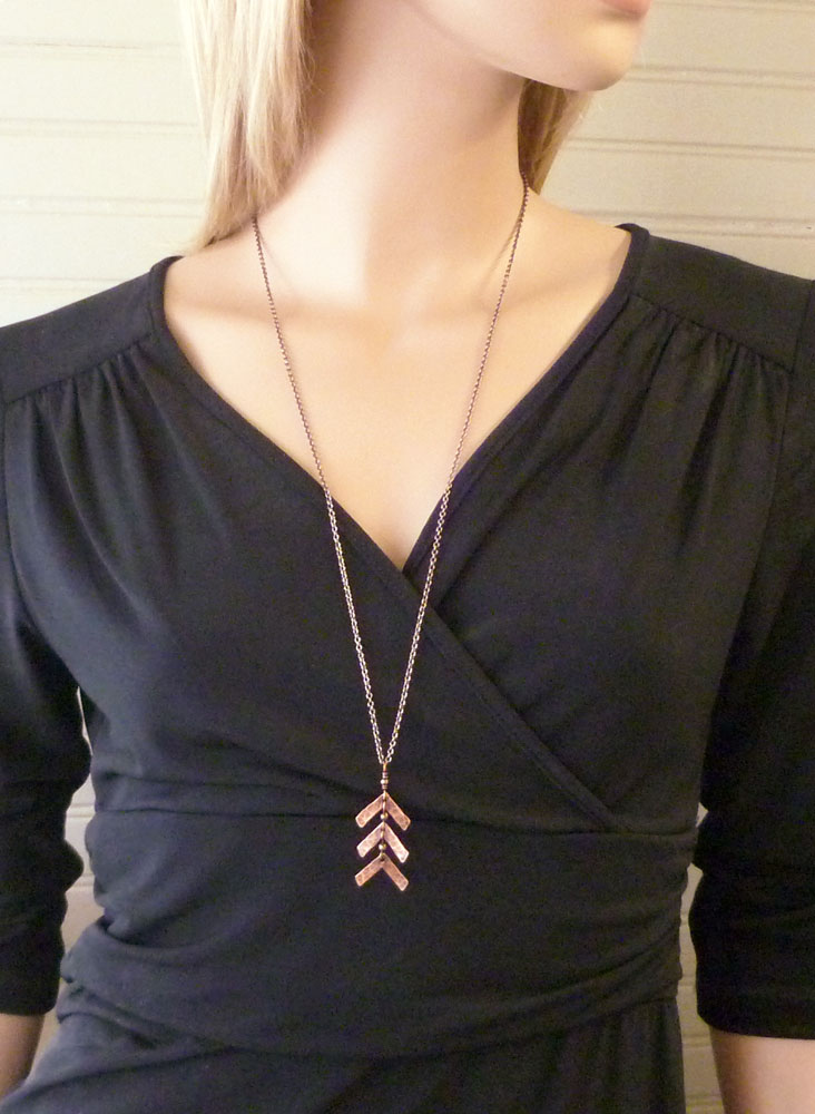 e026b7c19fb02 ... Down Syndrome three arrow necklace copper jewelry Shown on 28