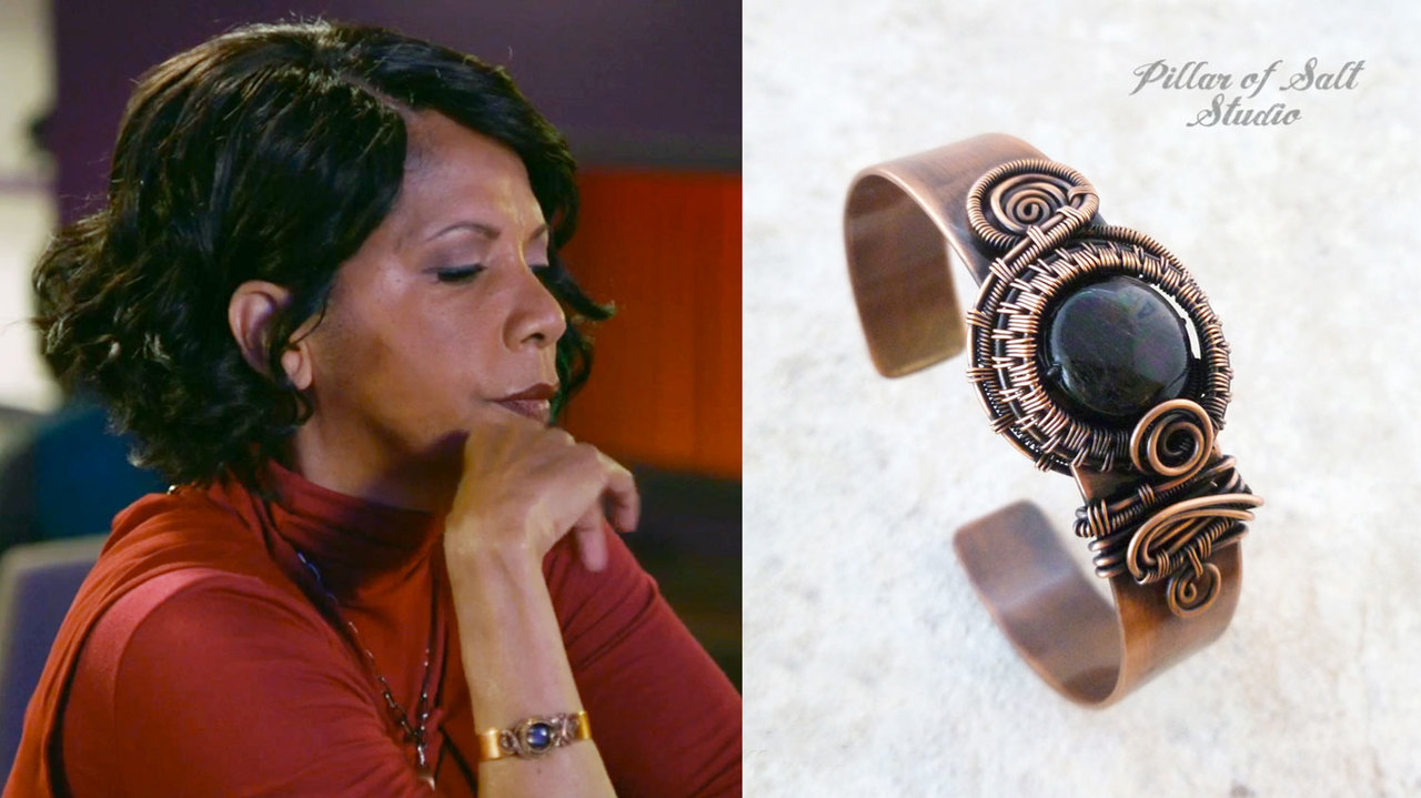 Pillar of Salt Studio cuff bracelet worn on The Orville by Dr. Finn (Penny Johnson Jerald)