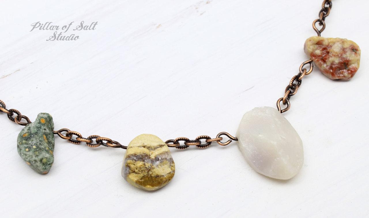 Ocean Jasper Nugget Necklace